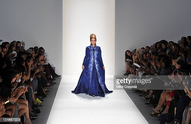 Kirstie Alley walks the runway at the Zang Toi Spring 2012 fashion show during MercedesBenz Fashion Week at The Studio at Lincoln Center on September...