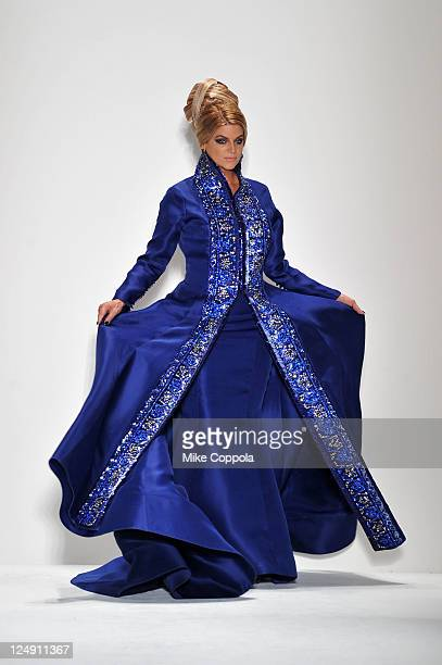 Kirstie Alley walks the runway at the Zang Toi Spring 2012 fashion show during MercedesBenz Fashion Week Spring 2012 at Lincoln Center on September...