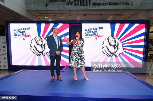 Kirstie Allsopp and Phil Spencer campaign for a Cleaner Greener Smarter Britain at Westfield Stratford City on June 15 2018 in London England