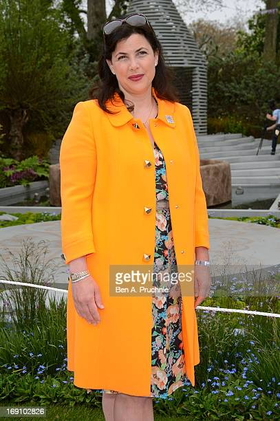Kirstie Allsopp attends the Chelsea Flower Show press and VIP preview day at Royal Hospital Chelsea on May 20 2013 in London England