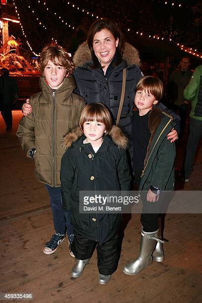 Kirstie Allsopp attends the Winter Wonderland VIP opening at Hyde Park on November 20 2014 in London England