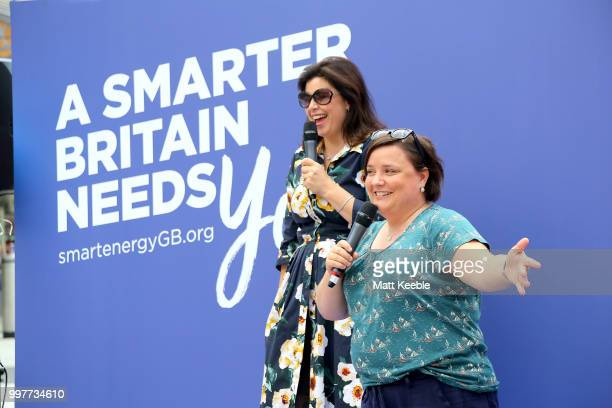 Kirstie Allsopp Phil Spencer are touring the UK this summer to inspire Britain's households to choose a smart meter visiting Cardiff City Centre on...
