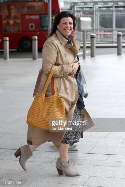 Kirstie Allsopp seen leaving The Chris Evans Breakfast Show on Virgin with Sky on April 26 2019 in London England
