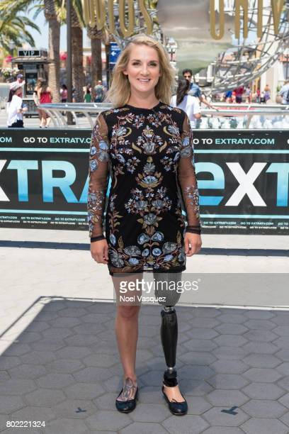 Kirstie Ennis visits Extra at Universal Studios Hollywood on June 27 2017 in Universal City California