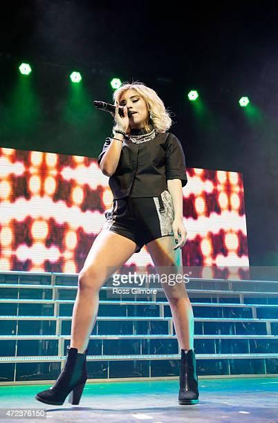 Kirstie Maldonado of Pentatonix performs on stage at O2 ABC Glasgow on May 6 2015 in Glasgow United Kingdom