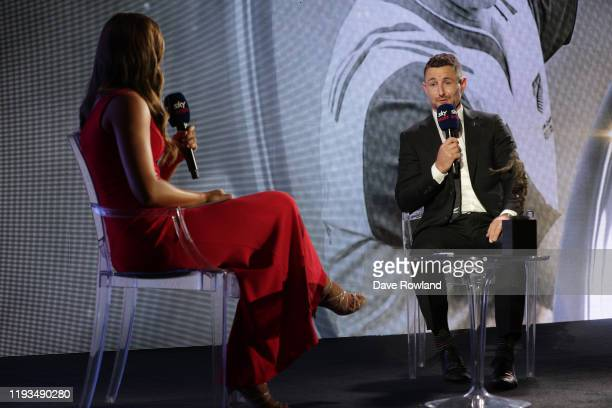 Kirstie Stanway interviews Paul Williams The New Zealand Rugby Referee of the Year during the New Zealand Rugby Awards at the Sky City Convention...