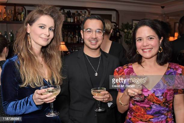 Kirstie Swain Daniel Dewsbury and Sarah Brocklehurst attend an intimate dinner hosted by Edward Enninful and Anne Mensah in celebration of the BAFTA...