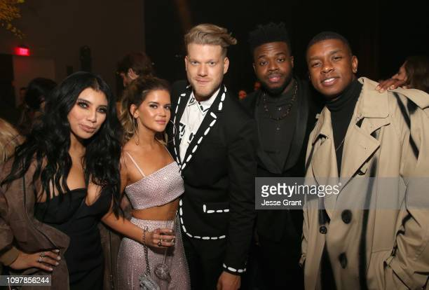 Kirstin Maldonado of Pentatonix Maren Morris and Scott Hoying Kevin Olusolaof and Mitch Grassi of Pentatonix attend the Sony Music Entertainment 2019...