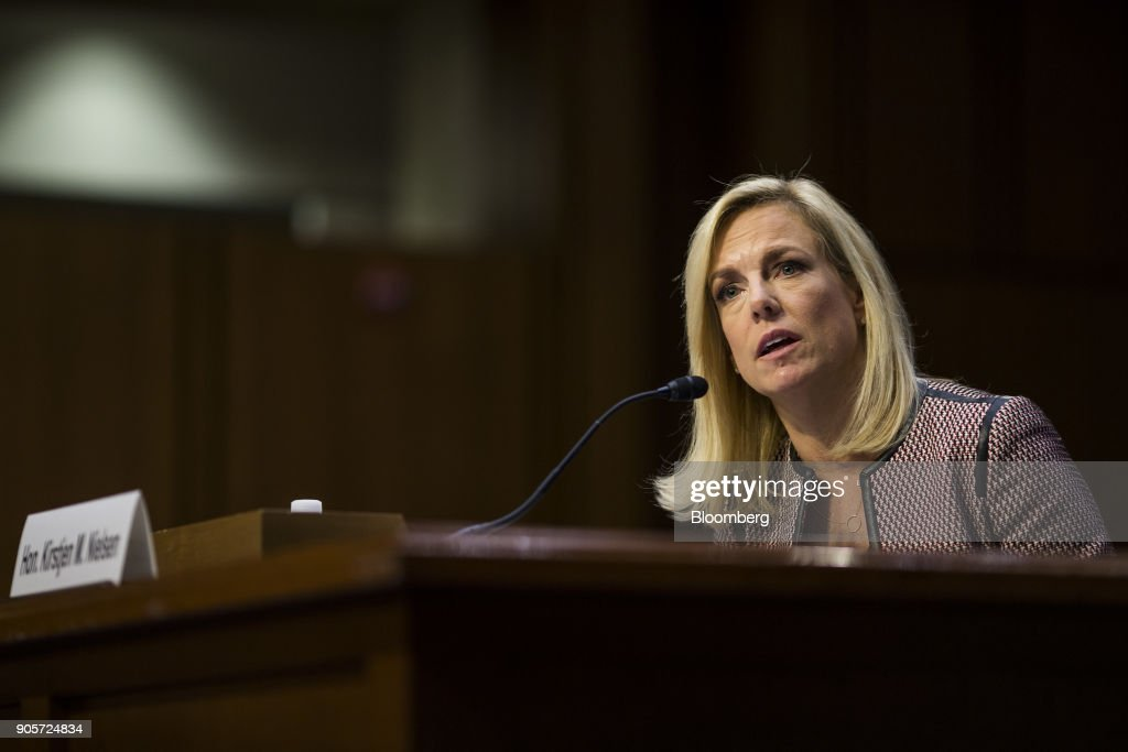 A Senate Judiciary Committee Hearing As Democrats Question Nielsen's Recall Of Trump Meeting