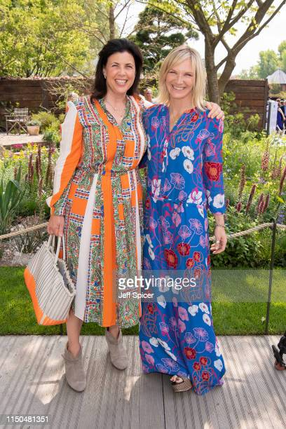 Kirsty Allsop and Jo Whiley attend the RHS Chelsea Flower Show 2019 press day at Chelsea Flower Show on May 20 2019 in London England