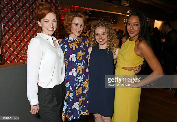 Kirsty Besterman Laura Rogers Sally Messham and Adelle Leonce attend the press night after party for Tipping The Velvet at The Lyric Hammersmith on...