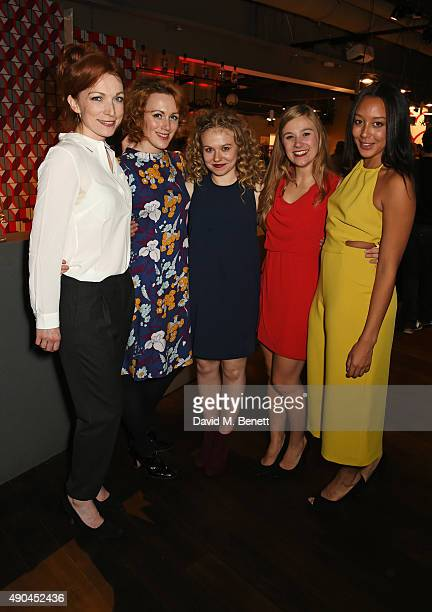 Kirsty Besterman Laura Rogers Sally Messham Sarah Vezmar and Adelle Leonce attend the press night after party for Tipping The Velvet at The Lyric...