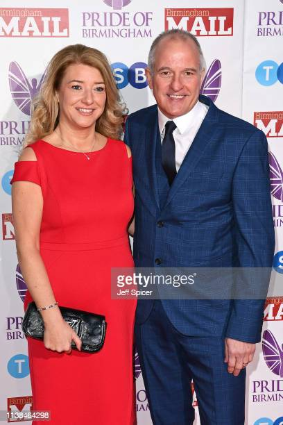 Kirsty Bull and Steve Bull attend The Pride of Birmingham Awards in partnership with TSB at University of Birmingham on March 26 2019 in Birmingham...