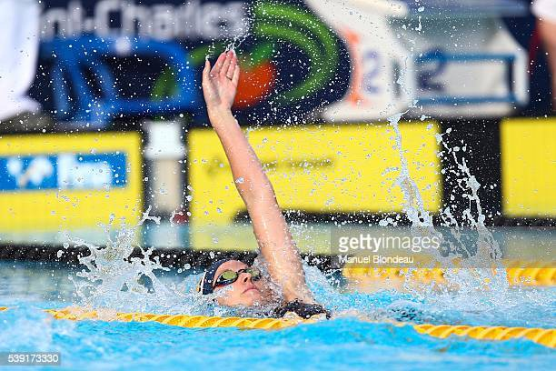 Kirsty Coventry of South Africa in action during 100m backstroke during the Mare Nostrum at Canet Natation on June 9, 2016 in Canet-en-Roussillon,...