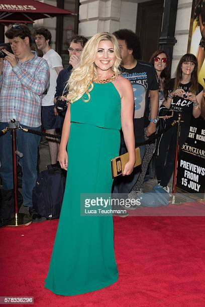 Kirsty Duffy arrives for The Bodyguard opening night at Dominion Theatre on July 21, 2016 in London, England.