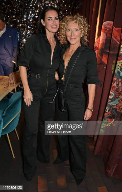 Kirsty Gallacher and Kelly Hoppen attend a private dinner celebrating the launch of Donna Ida's 'Cassandra' jumpsuit at Black Roe on September 24...