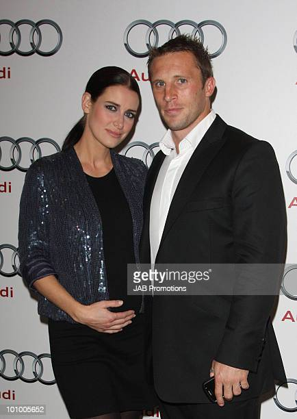 Kirsty Gallacher and Paul Sampson attends the opening of the new Audi Showroom on October 12 2009 in London England