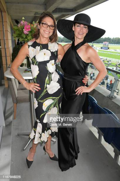 Kirsty Gallacher and Suzanne Danielle attend the King George Weekend at Ascot Racecourse on July 27 2019 in Ascot England