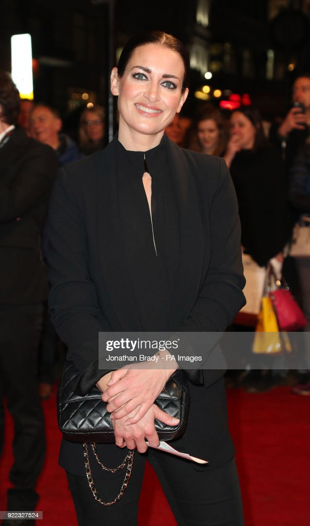 Kirsty Gallacher arrives at the BBC event Bruce: A Celebration at the London Palladium, which will honour the life of the late entertainer Sir Bruce Forsyth.