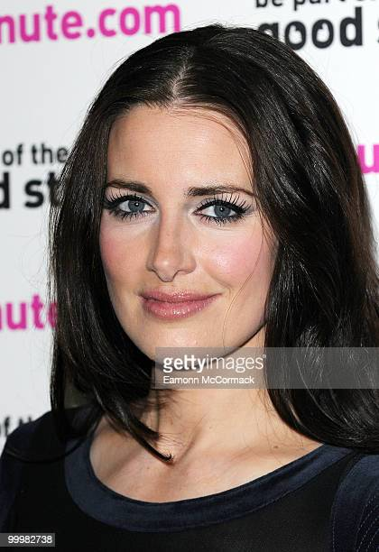 Kirsty Gallacher attends a photocall to launch Lastminutecom's World Cup offers at The Mayfair Hotel on May 19 2010 in London England