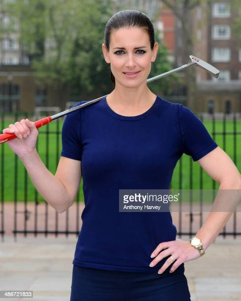 Kirsty Gallacher attends a photocall to launch the 'Performace Putting Challenge' at Duke of York Square on April 25 2014 in London England