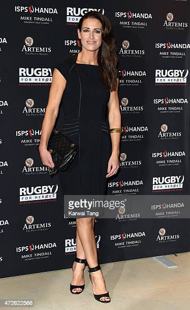 Kirsty Gallacher attends an evening reception for the ISPS Handa Mike Tindall 3rd annual celebrity golf classic at The Grove Hotel on May 8 2015 in...