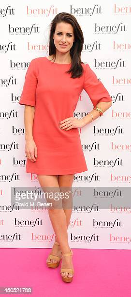 Kirsty Gallacher attends the launch party of Gabbi's Head a popup pub for women created by Benefit Cosmetics open for the duration of the World Cup...