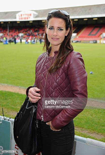 Kirsty Gallacher attends the Men United XI v Leyton Orient Legends charity football match at the Matchroom Stadium on May 31 2015 in London England