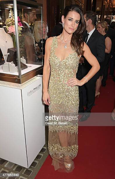 Kirsty Gallacher attends the official launch of The Zara Phillips Collection by Calleija at the Royal Arcade on June 18 2015 in London England