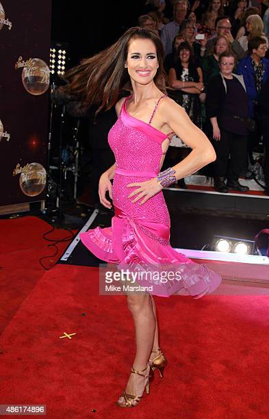 Kirsty Gallacher attends the red carpet launch of ' Strictly Come Dancing 2015' at Elstree Studios on September 1 2015 in Borehamwood England