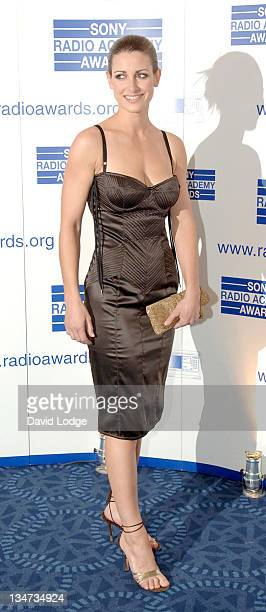 Kirsty Gallacher during 2005 Sony Radio Academy Awards Arrivals at Grosvenor House Hotel in London Great Britain
