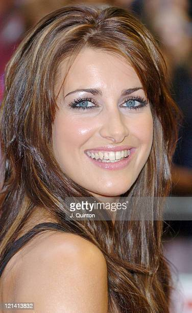 Kirsty Gallacher during 'Dodgeball' London Premiere Arrivals at Odeon Kensington in London Great Britain