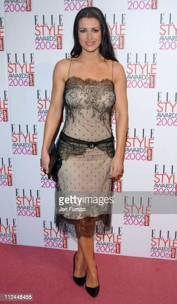 Kirsty Gallacher during Elle Style Awards 2006 Inside Arrivals at Old Truman Brewery in London Great Britain