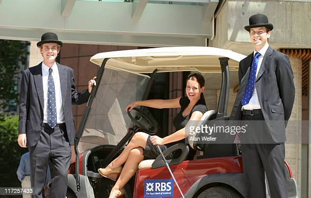 Kirsty Gallacher during Kirsty Gallacher Photocall to Promote the RBS Golf Experience July 18 2006 at Broadgate Arena in London Great Britain