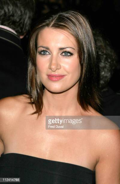 Kirsty Gallacher during Murderous Instincts Opening Night Arrivals at The Savoy Theatre in London Great Britain