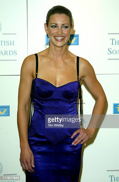 Kirsty Gallacher during The 2005 British Soap Awards Press Room at BBC Television Centre in London Great Britain
