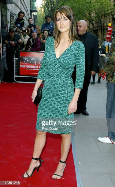 Kirsty Gallacher during 'The Football Factory' London Premiere at Odeon Covent Garden in London Great Britain