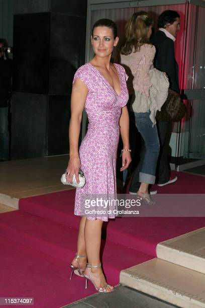 Kirsty Gallacher during The LaurentPerrier Pink Party Arrivals at Sanderson Hotel in London Great Britain