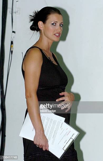 Kirsty Gallacher during Thierry Henry and Reebok Photocall at Phonica in London Great Britain