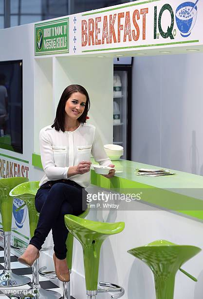 Kirsty Gallacher invited shoppers to take part in the Nestle Cereals Breakfast IQ Challenge at Westfield Stratford encouraging shoppers to get savvy...