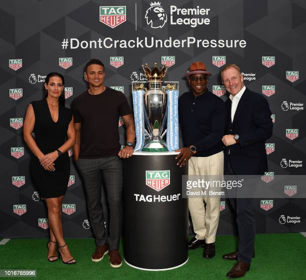 Kirsty Gallacher Jermaine Jenas Ian Wright and Rob Diver attend the TAG Heuer announcement of the extension of its partnership as Official Timekeeper...