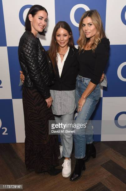 Kirsty Gallacher Louise Thompson and Zoe Hardman were at The O2 for the world's first live TV ad powered by O2 5G