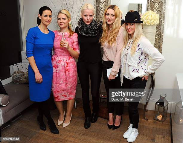 Kirsty Gallacher Sophie Gass Jakki Jones Laura Gallacher and Scarlett Bowman attend a Valentine's charity event at Sophie Gass Boutique Holland Park...