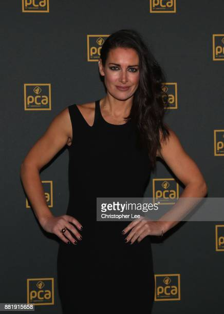 Kirsty Gallagher poses for the camera as the PCA Host 'An Evening with Freddie Flintoff and Friends' at The Roundhouse on November 29 2017 in London...