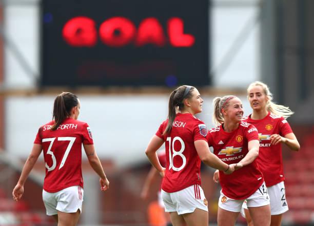 GBR: Manchester United Women v Aston Villa Women - Barclays FA Women's Super League