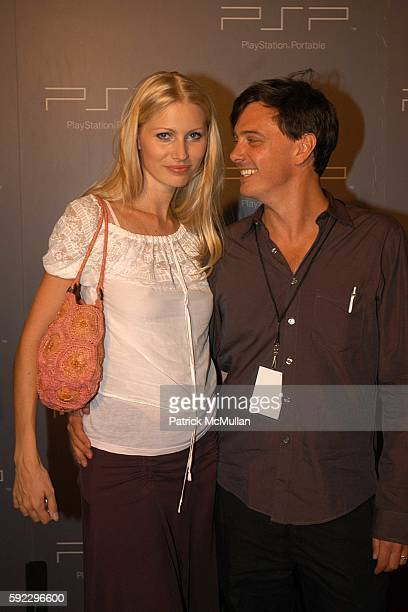 Kirsty Hume and Donovan Leitch attend Playstation Portable Exclusive Designer Accessories Show at Skylight Studios on September 10 2005 in New York...