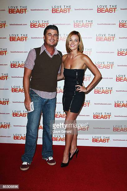 Kirsty Lee Allan and partner attend the world premiere of Love The Beast at the Greater Union George Street Cinema on March 9 2009 in Sydney Australia