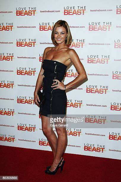 Kirsty Lee Allan attends the world premiere of Love The Beast at the Greater Union George Street Cinema on March 9 2009 in Sydney Australia