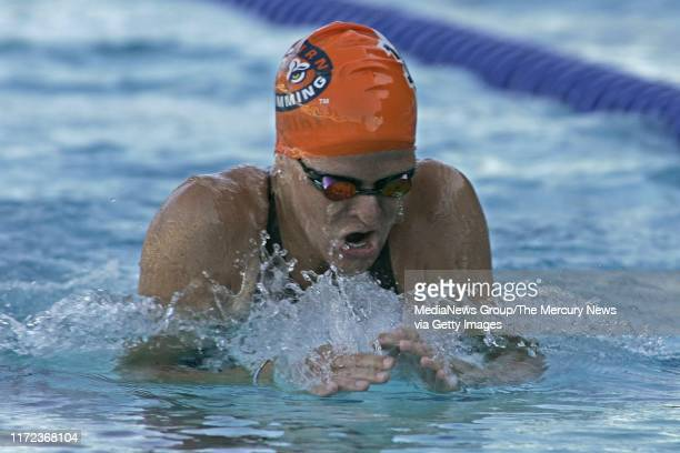 Kirsty Leigh Coventry during the breaststroke lap in the finals of the women's 200 individual medley event at the 38th annual Santa Clara...