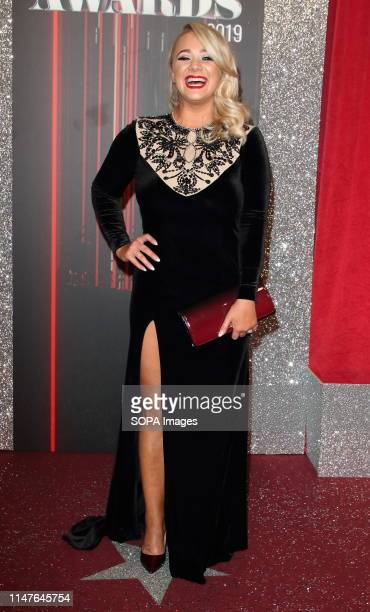 Kirsty Leigh Porter arrives on the red carpet during The British Soap Awards 2019 at The Lowry, Media City, Salford in Manchester.